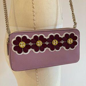 NWOT KATE SPADE Purple Mini Crossbody Bag Flowers